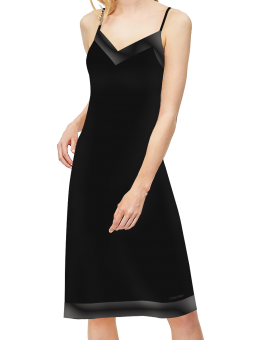 Calvin Klein spaghettidress Satin zwart