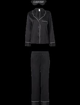 Calvin Klein Satijnen Pyjama set met slaapmasker