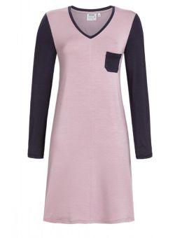 Ringella Nachthemd met V-hals 93%lyocell 7%EA