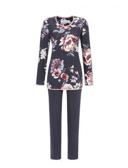 Ringella Pyjama Bloem antraciet 50%katoen 50%modal