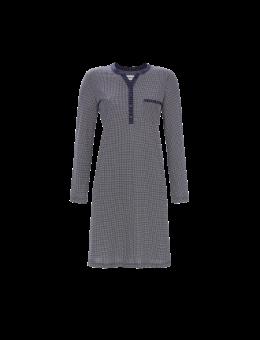 Ringella nachthemd Ruit met knoopjes blauw