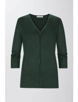 Mey Alena Pyjama shirt 3/4 mouw dark green