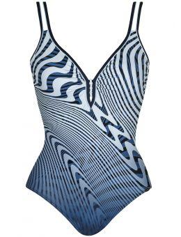 Sunflair Badpak Grafisch blauw/wit