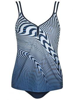 Sunflair Tankini grafisch blauw/wit