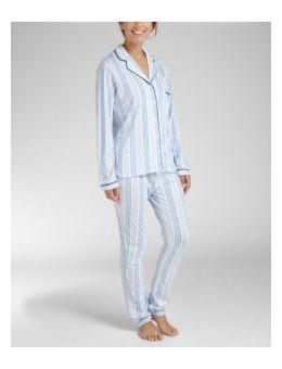 Cyell pyjamashirt blauw grijs