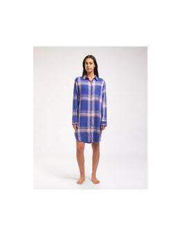 Cyell nachthemd ruit crazy blue