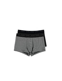Hom boxer black en white 2-pack