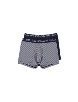 Hom Long boxer 2-pack navy stripes