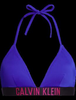 Calvin Klein Triangle Bikinitop Logo Royal Blue