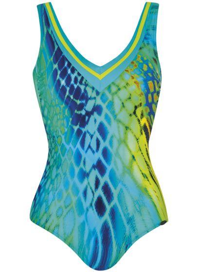 Sunflair Badpak aqua print met V-hals
