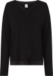 Calvin Klein Satin Pyjama shirt zwart