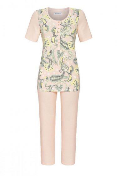 Pyjama 3/4 broek stripes paisley