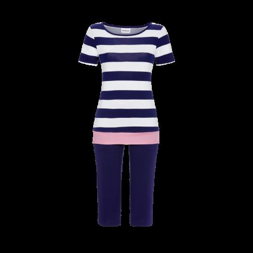 Ringella pyjama 3/4 broek streep